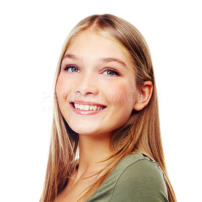 Buy stock photo A gorgeous girl smiling at the camera