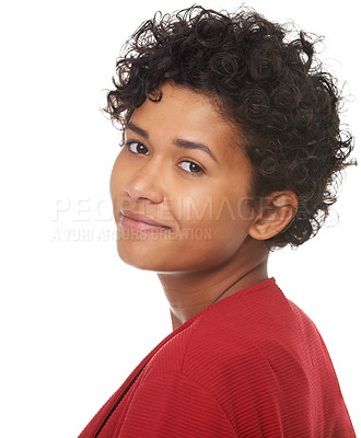 Buy stock photo A gorgeous young woman smiling at the camera