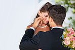A tender moment on their wedding day