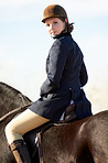 Young equestrienne