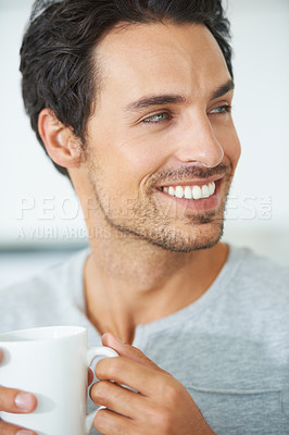 Buy stock photo A handsome man smili
