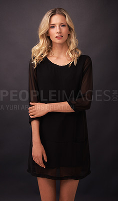 Buy stock photo Portrait of a stunning blond model posing in a studio
