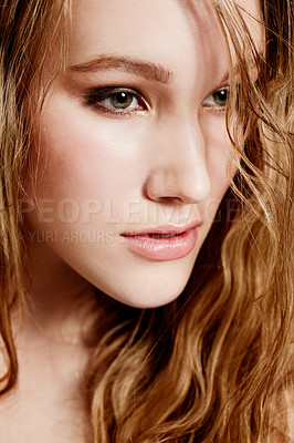 Buy stock photo Closeup image of an attractive young woman