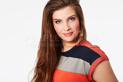 Buy stock photo Studio shot of a casually dressed woman