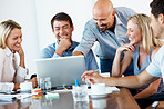Business team working together in meeting room