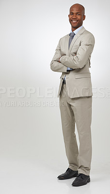 Buy stock photo Ready for a challenge. Confident african american businessman