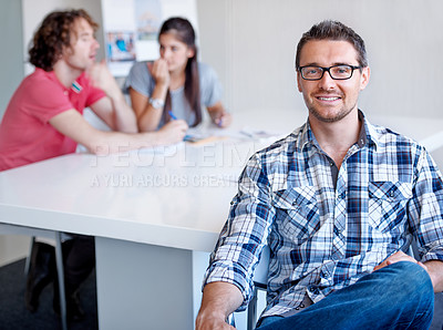 Buy stock photo A young team of creatives at work