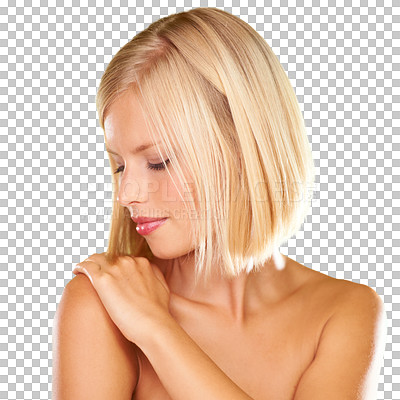 Buy stock photo A gorgeous young blonde woman isolated on a PNG background. As the only stock site in the world to do so, we are proud to offer high resolution, perfectly isolated files on a transparent background. You can request to have any image on our site isolated on transparent in the custom retouching menu