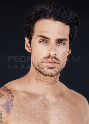 Buy stock photo Portrait of good looking male