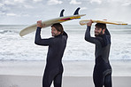 Surfing with my best mate