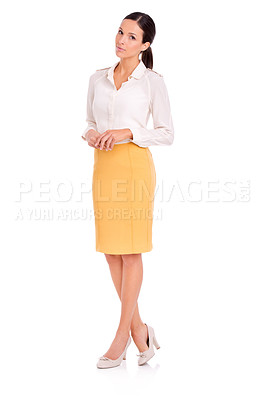 Buy stock photo Full-length studio portrait of an attractive young woman