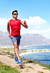 Jogging with an ocean view