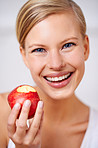 An apple a day is the healthy way