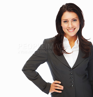 Buy stock photo Image of a successful young business woman