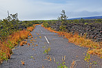Dead road because of volcano eroption - The Island of Hawaii, Hawaii