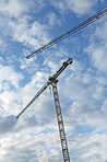 A photo of a hoisting crane