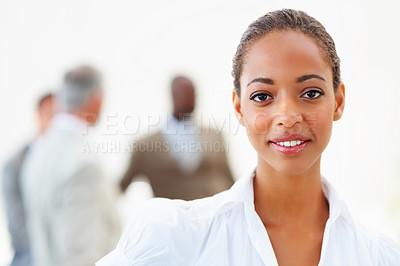 Buy stock photo Portrait of a cute African American business woman