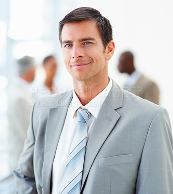 Buy stock photo Portrait of a handsome young business man