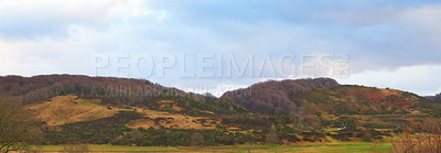 Buy stock photo Shot of a wide and open hill