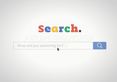 Buy stock photo Shot of a search engine homepage - ALL design on this image is created from scratch by Yuri Arcurs'  team of professionals for this particular photo shoot