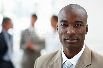 Buy stock photo Portrait of a successful African American business man