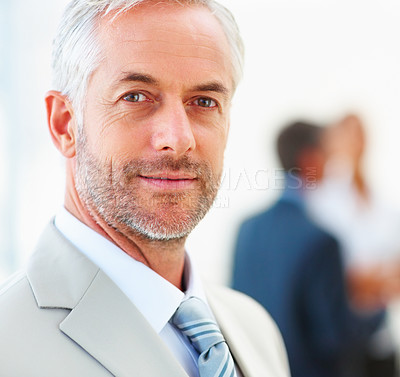 Buy stock photo Closeup portrait of a senior mature professor