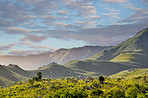 Green hills and valleys of South Africa