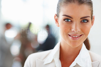 Buy stock photo Closeup of a charming elegant business woman