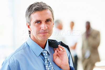 Buy stock photo Portrait of a confident mature business man