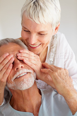 Buy stock photo Image of a senior old couple lost in love