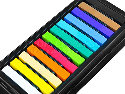 Buy stock photo A closeup of water colour paints