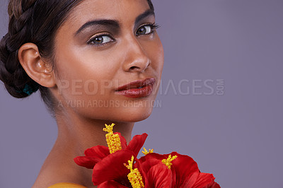 Buy stock photo Closeup shot of a beautiful exotic woman