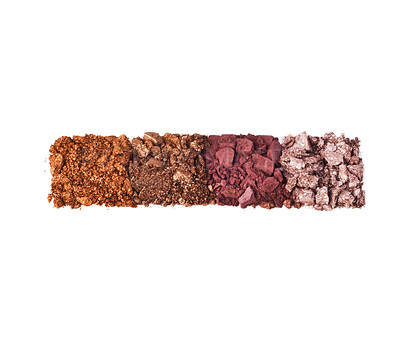 Buy stock photo Studio shot of crushed eyeshadow against a white background