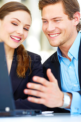 Buy stock photo Workgroup laughing