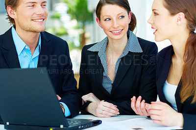 Buy stock photo Workgroup meeting