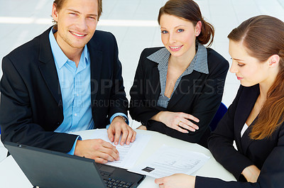 Buy stock photo Workgroup interacting