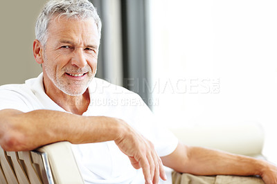 Buy stock photo Portrait of casual man smiling