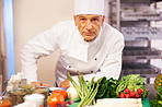 Chef with serious look