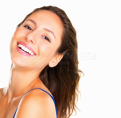 Buy stock photo Head shot of woman smiling