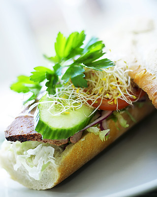 Buy stock photo Gourmet Sandwich. This pictures belongs to the healthy living series in my portfolio