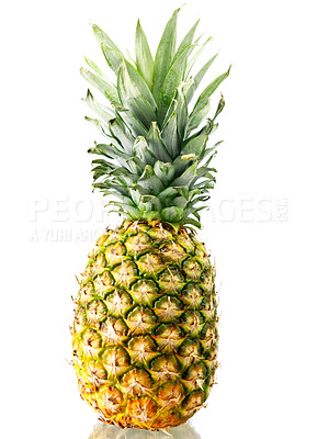 Buy stock photo Shot of an isolated pineapple