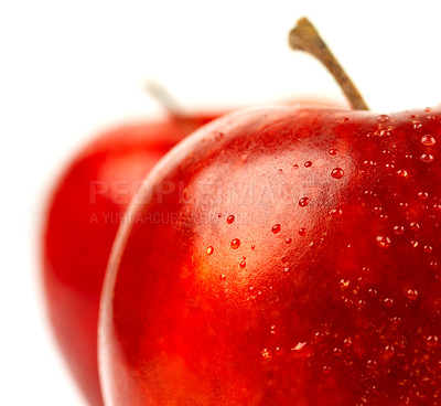Buy stock photo Shot of an isolated red apple