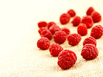 Macro of raspberries