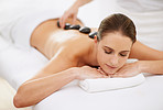 The sublime comfort of a hot stone massage