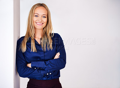 Buy stock photo Shot of well dressed woman looking at the camera