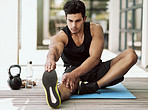 Stretching thoroughly for an injury-free workout