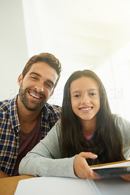 Buy stock photo Cropped portrait of a young man and his daughter