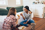 Pizza is their favourite laid-back lunch