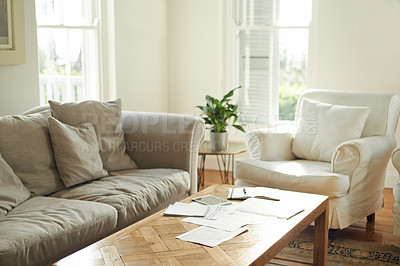 Buy stock photo Cropped shot of funriture in a neat living room