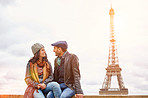 Love under the shadow of the Eiffel Tower